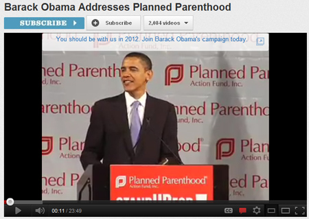 "Look at the campaign slogan on the old YouTube, ""You should be with us in 2012 . . . """
